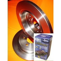 BMW 320i E90 2005 Onwards REAR Disc brake Rotors AND EBC PADS from the UK