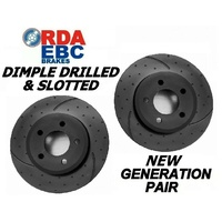 DRILL SLOT Fits Prelude VTi-R 2/1994-1997 REAR Disc brake Rotors RDA481D