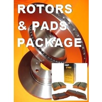RDA Holden Commodore VT VU VX VY VZ WH WK WL FRONT Pads & Disc Rotors PACKAGE
