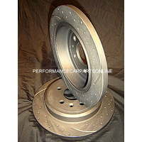 RDA DRILLED & SLOTTED Commodore VT VU VX VY VZ V6 V8 SS REAR Disc Brake Rotors