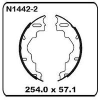 "Trailer/Caravan Al-Ko 10"" Electric REAR Drum Brake Shoe Set N1442-2"