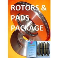 Nissan Dualis Series 1 & 2 2006 - Current FRONT Disc Brake Rotors & H/DUTY PADS