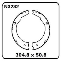 "Trailer/Caravan Dexter 12"" x 2 Electric REAR Drum Brake Shoe SET N3232"