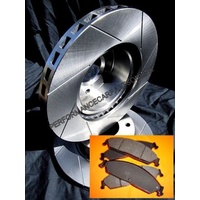 VMAX SLOTTED FRONT fits Commodore VT VU VX VY VZ Disc Brake Rotors & PADS