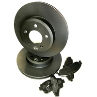 fits VOLVO 480 Series 1988-1996 FRONT Ventilated Disc Brake Rotors & PADS PACK