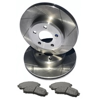 "S SLOT fits VOLVO S80 With 16"" Wheels 06 Onwards FRONT Disc Brake Rotors & PADS"