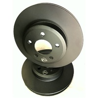 fits MERCEDES C180 W203 Kompressor With Sports Pkg 02 On FRONT Disc Rotors PAIR