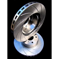 RTYPE SLOTTED fits AUDI A1 With PR 1ZG Contiteves 2010 Onwards FRONT Disc Rotors