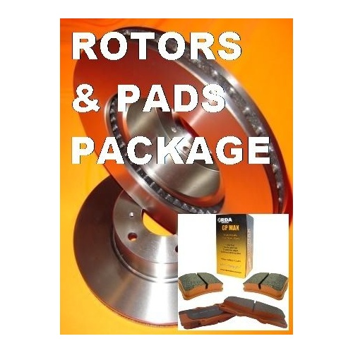 RDA Holden Commodore VE V8 & SS FRONT Pads & Disc Brake Rotors PACKAGE WARRANTY