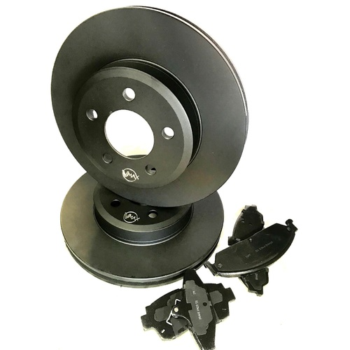 fits HOLDEN HSV Clubsport GTO Coupe 5.7L V8 2002 On FRONT Disc Rotors & PADS PACKAGE