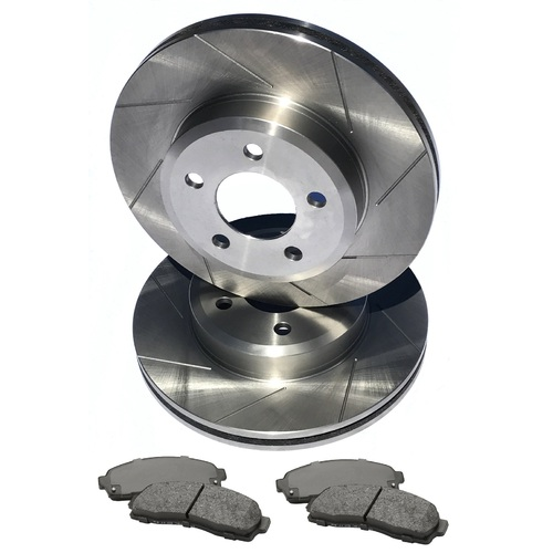 S SLOT fits HOLDEN Commodore VE V6 2006-2012 REAR Disc Brake Rotors & PADS